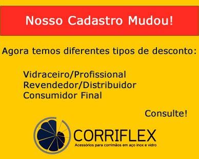 Corriflex - Acessórios para corrimãos em aço inox e vidro
