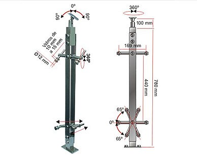 Torre para Guarda-Corpo