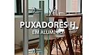 Puxadores H em Alumínio para Portas de Vidro Temperado