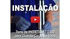 Instalação Torre de INOX T&M para Guarda-Corpo de Vidro