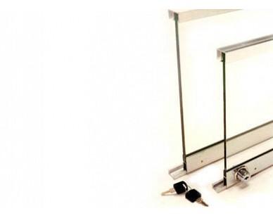 Perfis para vidros de 4 a 8 mm