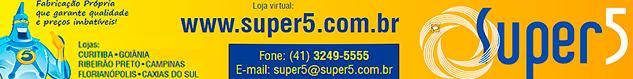 Super 5 - Ferragens e Acessórios para Vidros. Fabricação Própria! Acesse www.super5.com.br