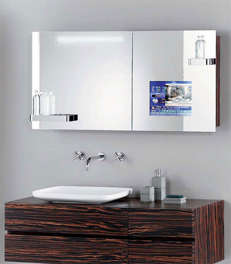bathroom mirror with tv espelho tv guia do vidro 16274